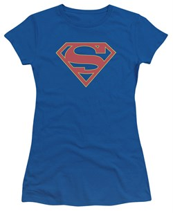 Supergirl Juniors Shirt Logo Royal Blue T-Shirt