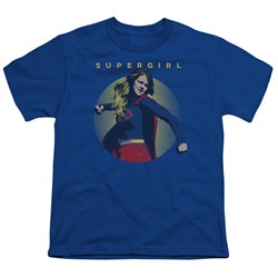 Supergirl Kids Shirt Classic Hero Royal Blue T-Shirt