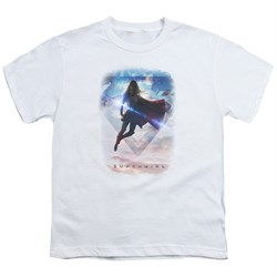 Supergirl Kids Shirt Endless Sky White T-Shirt