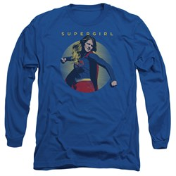 Supergirl Long Sleeve Shirt Classic Hero Royal Blue Tee T-Shirt