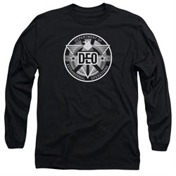 Supergirl Long Sleeve Shirt DEO Symbol Black Tee T-Shirt