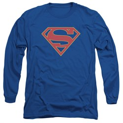 Supergirl Long Sleeve Shirt Logo Royal Blue Tee T-Shirt