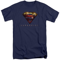 Supergirl Shirt Logo Glare Navy Blue Tall T-Shirt