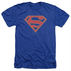 Supergirl Shirt Logo Heather Royal Blue T-Shirt
