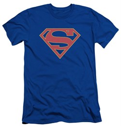 Supergirl Slim Fit Shirt Logo Royal Blue T-Shirt