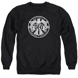 Supergirl Sweatshirt DEO Symbol Adult Black Sweat Shirt