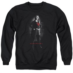 Supergirl Sweatshirt Noir Adult Black Sweat Shirt