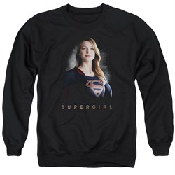 Supergirl Sweatshirt Standing Tall Adult Black Sweat Shirt
