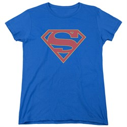 Supergirl Womens Shirt Logo Royal Blue T-Shirt