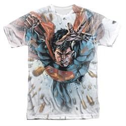 Image of Superman Bullets In The Sky Sublimation Shirt