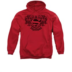 Superman Hoodie Dragons Red Sweatshirt Hoody