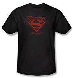 Superman Kids T-shirt DC Comics Los Angeles Shield Black Tee Youth