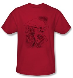 Image of Superman Kids T-shirt DC Comics Metropolis In The City Red Tee Youth