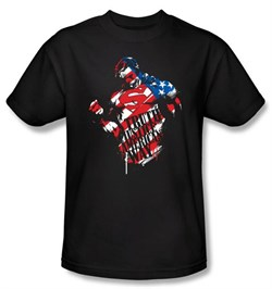 Superman Kids T-shirt DC Comics The American Way Black Tee Youth
