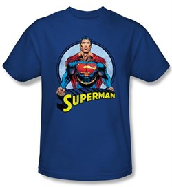 Image of Superman Kids T-shirt Flying High Again Royal Blue Tee Youth