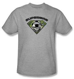 Image of Superman Kids T-shirt Soccer Ball Shield Heather Gray Tee Youth