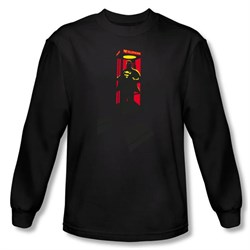 Image of Superman Long Sleeve Shirt DC Comics Super Booth Black Shirt
