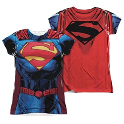 Image of Superman New 52 Superman Sublimation Juniors Shirt Front/Back Print