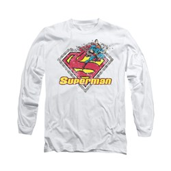 Superman Shirt Est 1939 Long Sleeve White Tee T-Shirt