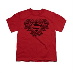 Superman Shirt Kids Dragons Red T-Shirt
