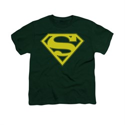 Superman | T-Shirt | Yellow | Green | Shirt | Hunt | Kid