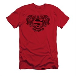Superman Shirt Slim Fit Dragons Red T-Shirt