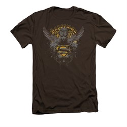 Superman Shirt Slim Fit Stand Your Ground Coffee T-Shirt