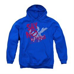 Image of Superman Youth Hoodie No To Thugs Royal Blue Kids Hoody