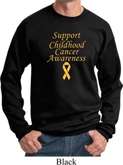 Image of Support Childhood Cancer Awareness Sweatshirt