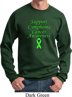 Image of Support Lymphoma Cancer Awareness Sweatshirt
