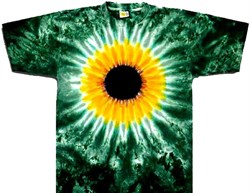 Image of Tie Dye T-shirt Sunflower Burst Adult Unisex Tee