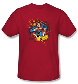 Superman Kids T-Shirt Sorry About The Wall Superhero Red Tee Youth
