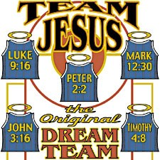 Christian T-shirt - Team Jesus Adult Tee Shirt