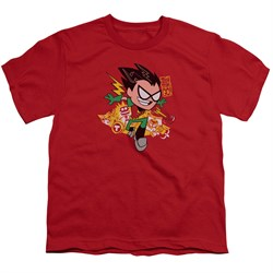 Teen Titans Go Shirt Kids Robin Red T-Shirt