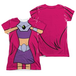 Image of Teen Titans Go Shirt Starfire Uniform Sublimation Juniors Shirt