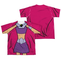 Image of Teen Titans Go Shirt Starfire Uniform Sublimation Youth Shirt