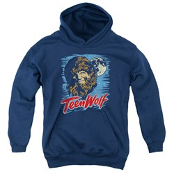 Teen Wolf Kids Hoodie Moon Wolf Navy Youth Hoody