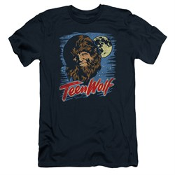 Teen Wolf Slim Fit Shirt Moon Wolf Navy Tee T-Shirt