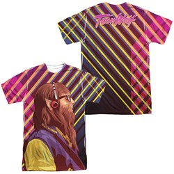 Teen Wolf Wolf Rays Sublimation Shirt Front/Back Print