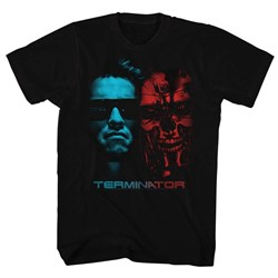 Terminator Shirt Two Face Black T-Shirt
