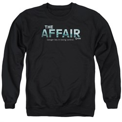 Image of The Affair Sweatshirt Logo Adult Black Sweat Shirt