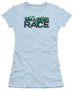Image of The Amazing Race Juniors Shirt World Light Blue T-Shirt