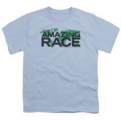 Image of The Amazing Race Kids Shirt World Light Blue T-Shirt