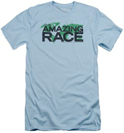 Image of The Amazing Race Slim Fit Shirt World Light Blue T-Shirt