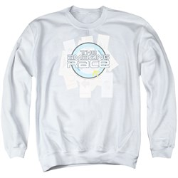 Image of The Amazing Race Sweatshirt Road Sign Adult White Sweat Shirt