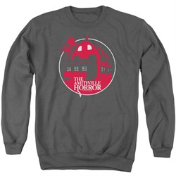 Image of The Amityville Horror Sweatshirt Red House Adult Charcoal Sweat Shirt