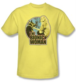 Image of The Bionic Woman Shirt Jamie & Maximillian Adult Banana Tee T-Shirt