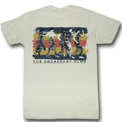 The Breakfast Club Shirt Dance Away Adult Natural Tee T-Shirt