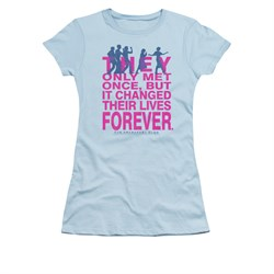 Image of The Breakfast Club Shirt Juniors Forever Light Blue Tee T-Shirt