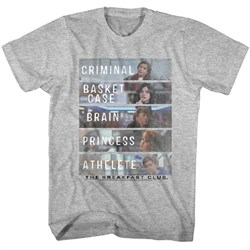Image of The Breakfast Club Shirt Who They Are Athletic Heather T-Shirt